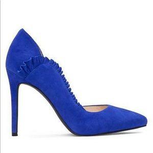 Very cute Jessica Simpson blue d'orsay suede heels
